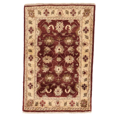 2'7 x 4' Hand-Knotted Pakistani Oushak Accent Rug