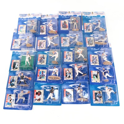 """1997 Kenner """"Starting Lineup"""" MLB Action Figures with Rodriguez and Jeter"""