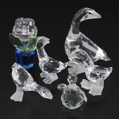 """Swarovski """"Mother Goose"""", """"Tom Gosling-Goose"""" and Other Crystal Figurines"""