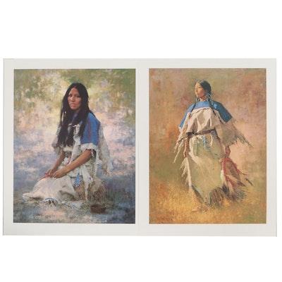 Howard Terpning Offset Lithographs of Native American Women