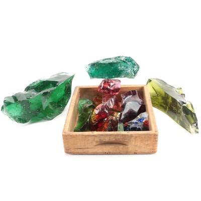 Colored Cullet Glass Fragments