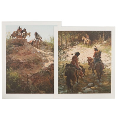 Howard Terpning Offset Lithographs of Native American Scenes