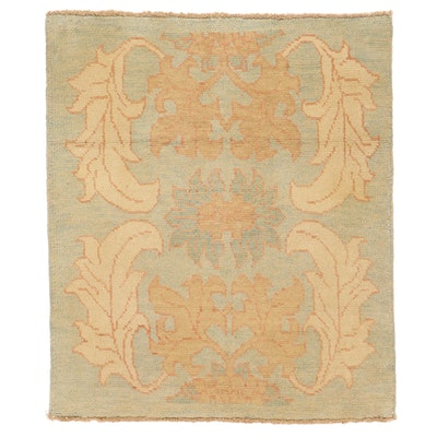 4'4 x 5'2 Hand-Knotted Turkish Donegal Style Oushak Area Rug