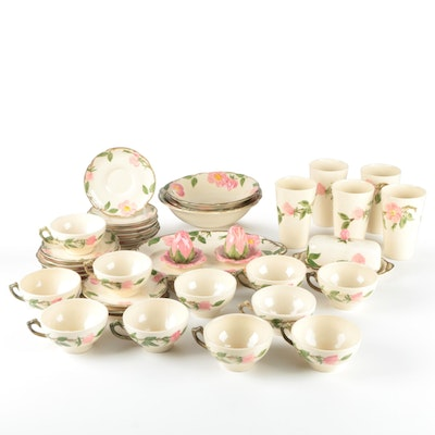 """Franciscan """"Desert Rose"""" Tableware and Serveware, Mid to Late 20th C."""