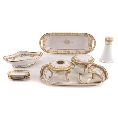 Noritake Japanese Porcelain Vanity Set, Early 20th Century