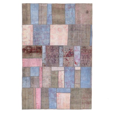 5'3 x 7'11 Handmade Persian Patchwork Area Rug