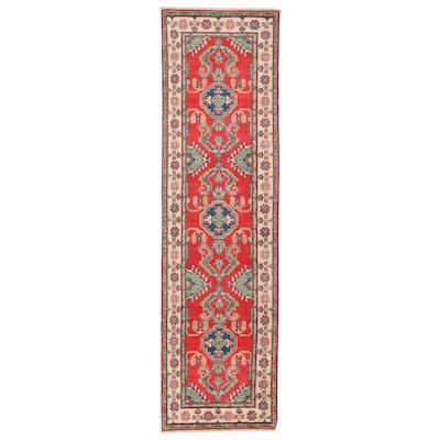 2'8 x 9'8 Hand-Knotted Afghan Kazak Carpet Runner
