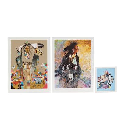 Tiller Wesley Giclées of Native American Figures