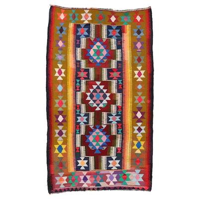 5'8 x 10' Handwoven Persian Kilim Area Rug