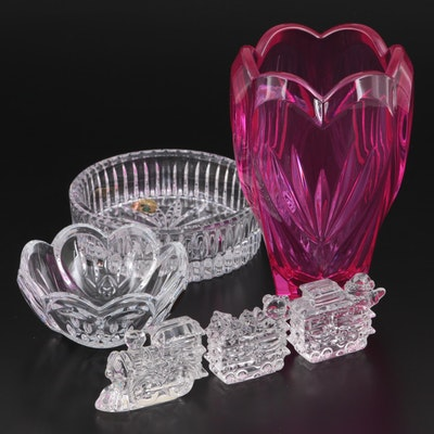 Waterford Crystal Heart Bowl, Wine Coaster and Other Table Décor