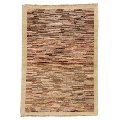 3'4 x 4'10 Hand-Knotted Pakistani Gabbeh Area Rug
