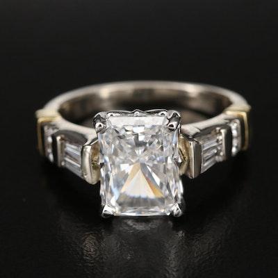 18K and Platinum 4.37 CTW Diamond Ring with IGI Report