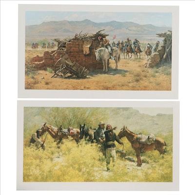 Howard Terpning Offset Lithographs of Southwestern Scenes