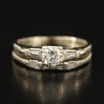14K 0.61 CTW Diamond Ring