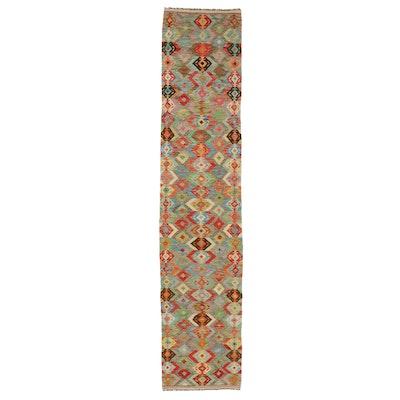 2' x 12'9 Handwoven Turkish Kilim Carpet Runner