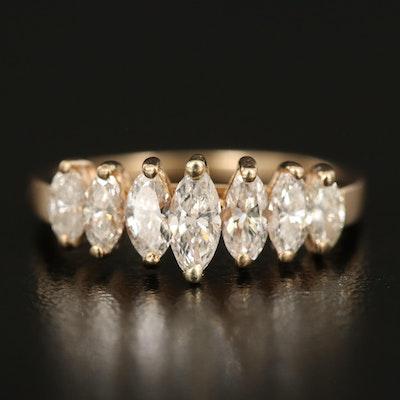 14K 0.97 CTW Diamond Seven Stone Ring