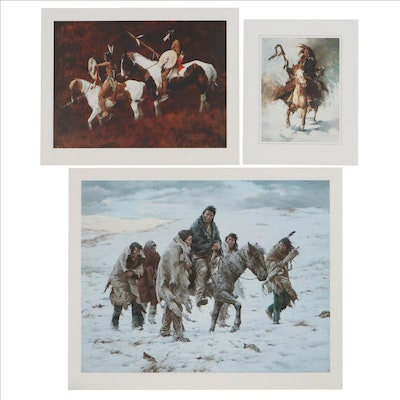 """Howard Terpning Offset Lithographs Including """"Chief Joseph Rides to Surrender"""""""