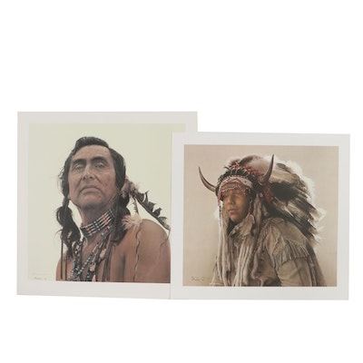 James Bama Offset Lithographs of Native American Figures