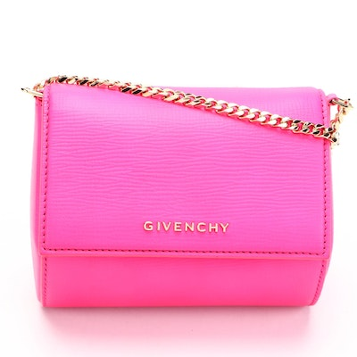 Givenchy Pandora Box Micro Bag in Pink Leather