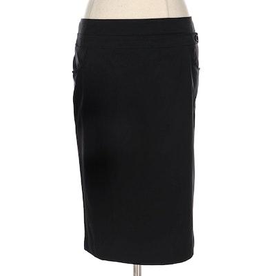 Prada Black Pencil Skirt with Teflon Protector Finish
