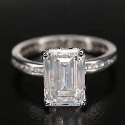 Platinum 4.58 CTW Diamond Ring with IGI Report
