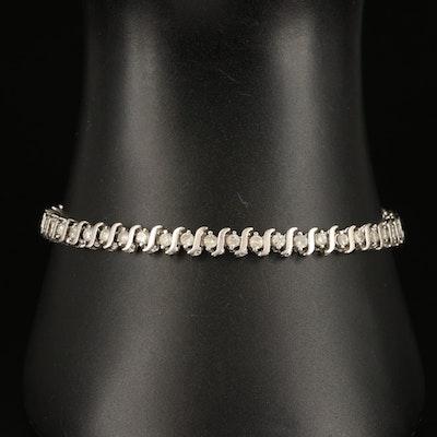 10K 2.00 CTW Diamond 'S' Link Bracelet