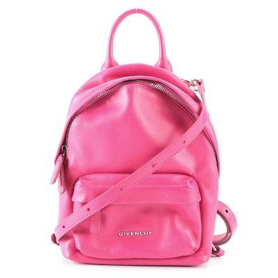 Givenchy Classic Nano Backpack in Fuchsia Pink Leather with Detachable Strap
