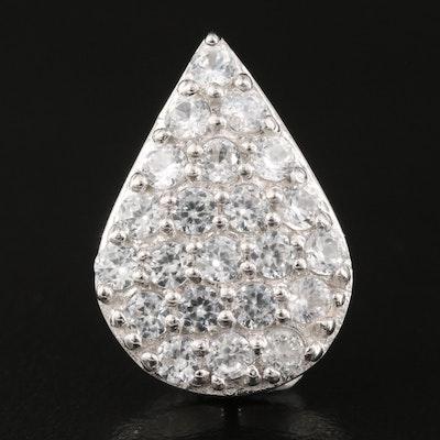 Sterling Silver Zircon Tear Drop Pendant