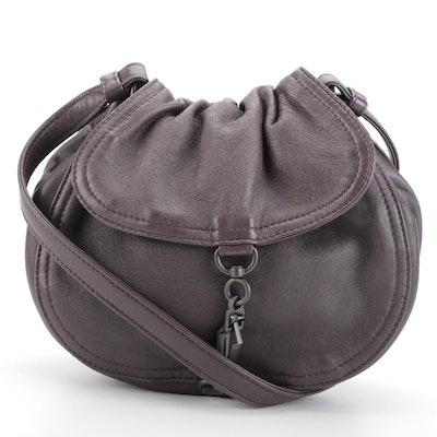Bottega Veneta Leather Flap Front Shoulder Bag with Intrecciato Trim