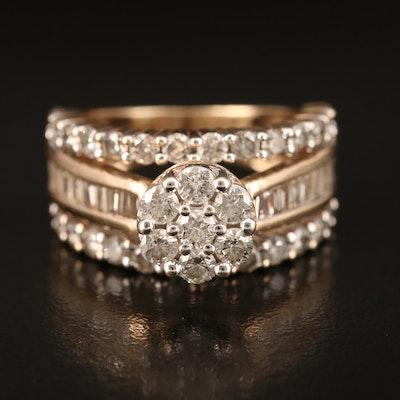 10K 2.60 CTW Diamond Cluster Ring