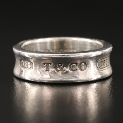 """Tiffany & Co. Sterling Silver """"1837"""" Band"""