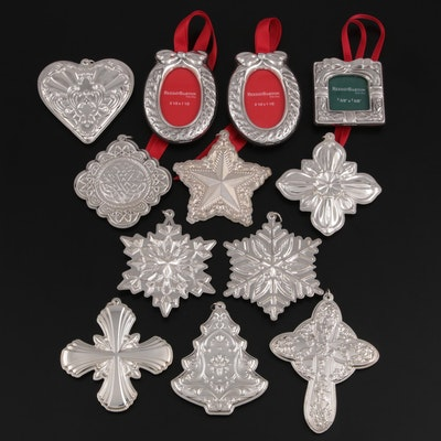 Gorham, Reed & Barton and Towle Sterling Silver Ornaments