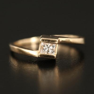 14K 0.29 CT Diamond Solitaire Ring