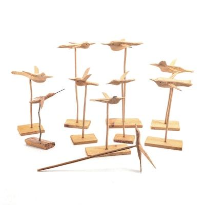 Handcrafted Wooden Birds