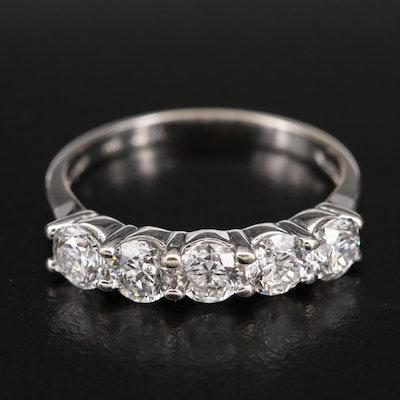 14K 1.77 CTW Diamond Five Stone Ring