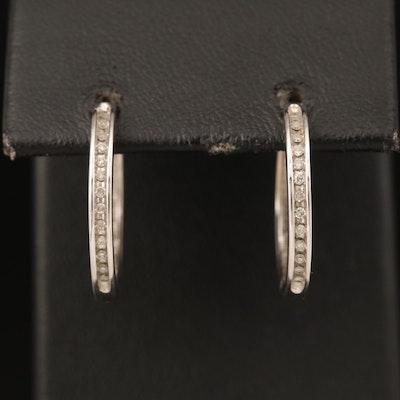 10K 0.13 CTW Hoop Earrings