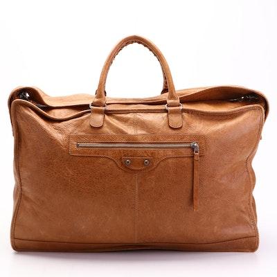 Balenciaga Bridge Classique Bag in Sahara Lambskin Leather