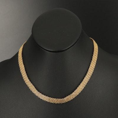 14K Italian Gold Mesh Chain Necklace