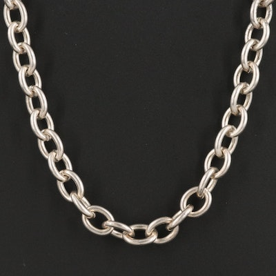 Judith Ripka Sterling Silver Cable Chain Necklace