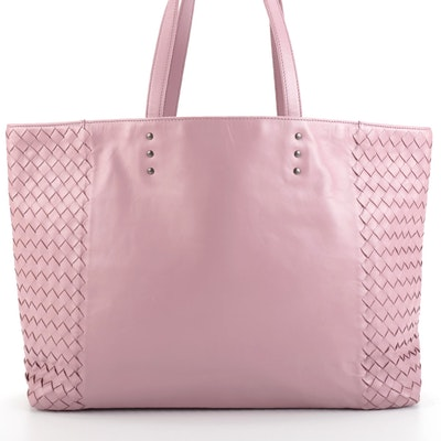 Bottega Veneta Pink Intrecciato Nappa Leather Shopper Tote