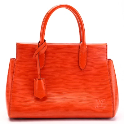 Louis Vuitton Marly BB Bag in Orange Epi and Smooth Leather