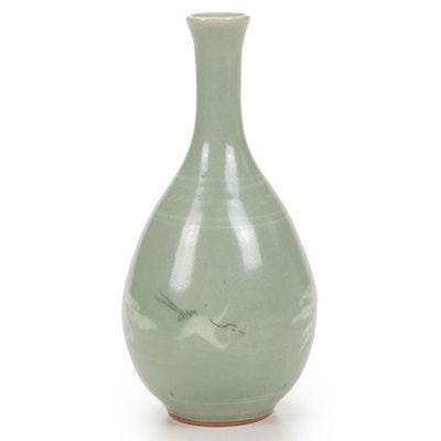 Korean Celadon Vase, 1950s