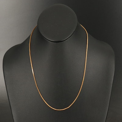 18K Italian Gold Foxtail Chain Necklace