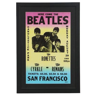 Giclée After The Beatles San Francisco Concert Poster
