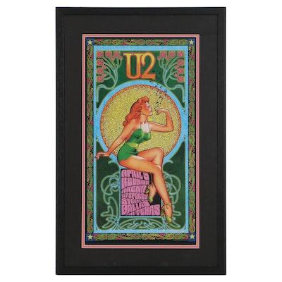 "Bob Masse Offset Lithograph Concert Poster ""U2 at Reunion Arena, 2001"""