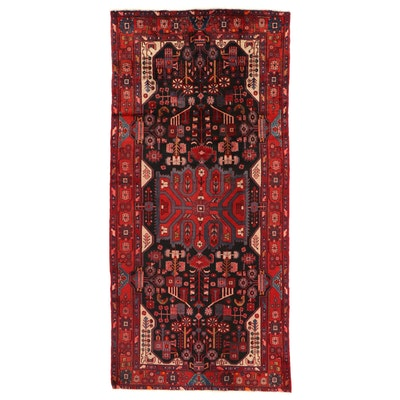 5'8 x 12' Hand-Knotted Persian Nahavand Area Rug