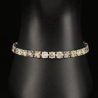 14K 16.29 CTW Diamond Tennis Bracelet