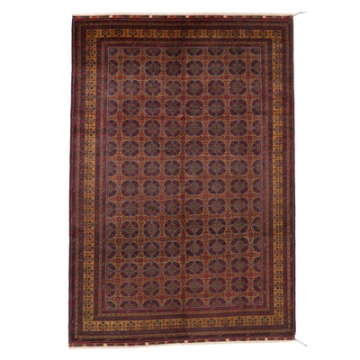 6'8 x 10' Hand-Knotted Persian Baluch Area Rug