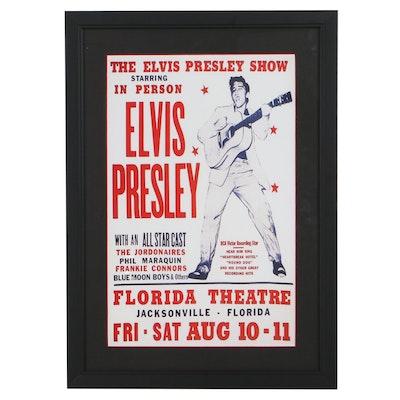 """Giclée After """"The Elvis Presley Show"""" Concert Poster"""