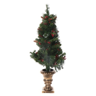 National Tree Company Pre-Lit Artificial Spruce Entrance Tree